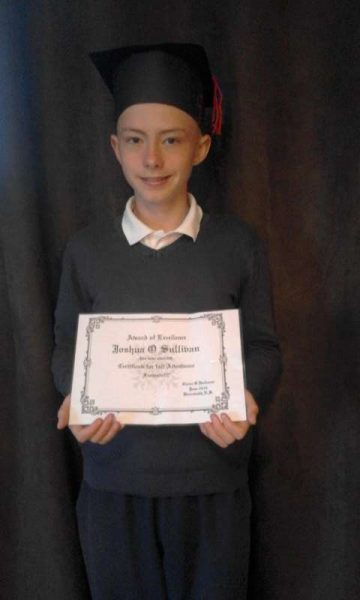 201606 Joshua O'Sullivan - Full Attendance Certificate for National School