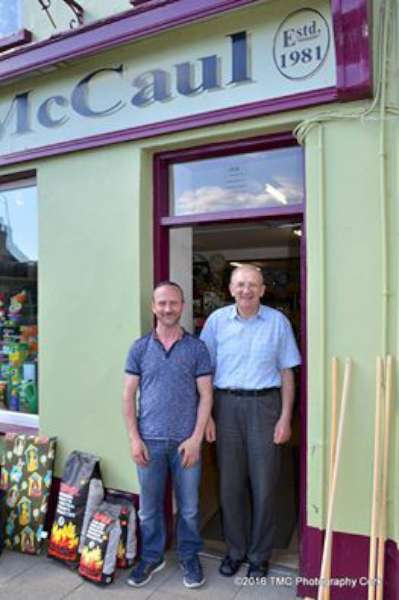 Sincere congratulations to All at the wonderfully welcoming McCauls of Millstreet. Such a hugely important part of the business life of Millstreet where sincere friendliness, cheerfulness and a superb sense of community spirit have been consistently in evidence over a period of 35 magnificent years. Every success...and well done to Tom Corbett on such brilliant images. ..one of which we feature showing Tony McCaul & Tim Long.   (S.R.)