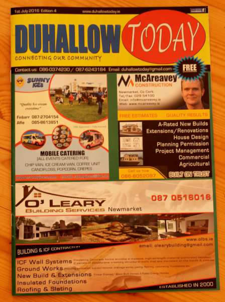 "The July issue of the very impressive ""Duhallow Today"" is now available and will later appear online.  We share three pages from the current issue.  Click on the images to enlarge.  (S.R.)"