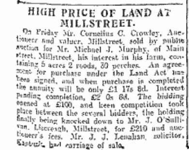1916-06-14 High price of land in millstreet_rsz