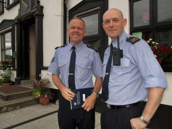 Sgt. Paul Lynch and Garda Denis Curtin about to attend a recent preparatory meeting at the Wallis Arms Hotel ensuring efficient traffic management during the forthcoming highly prestigious event. A royal welcome awaits the many International Visitors arriving for the 2016 World Mounted Games - a truly spectacular equestrian event at Green Glens with the Official Opening Parade through Millstreet Town on this Tuesday , 12th July beginning at 6.30pm. The dedicated organisers have put many colourful signs in place on all approach roads to Millstreet welcoming the participating countries. Click on the images to enlarge. (S.R.)