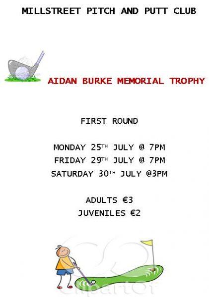 2016-07-19 Aidan Burke Memorial Trophy - poster