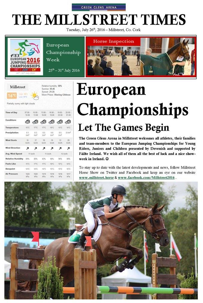 2016-07-26 FEI European Junior Championships 2016 Millstreet - Let the Games Begin