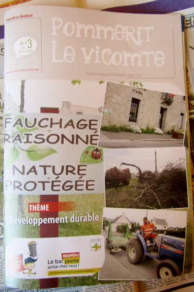 Current Pommerit le Vicomte comprehensive Report Magazine arrived from Twinning Committee and it illustrates the new community website.