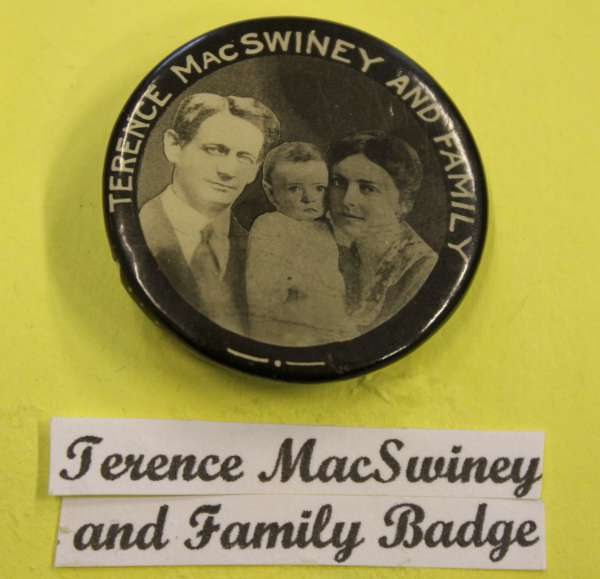 1Terence McSwiney Badge at Millstreet Museum -600