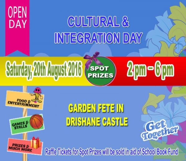 2016-08-20 Cultural and Integration Day - Drishane Garden Fete - poster