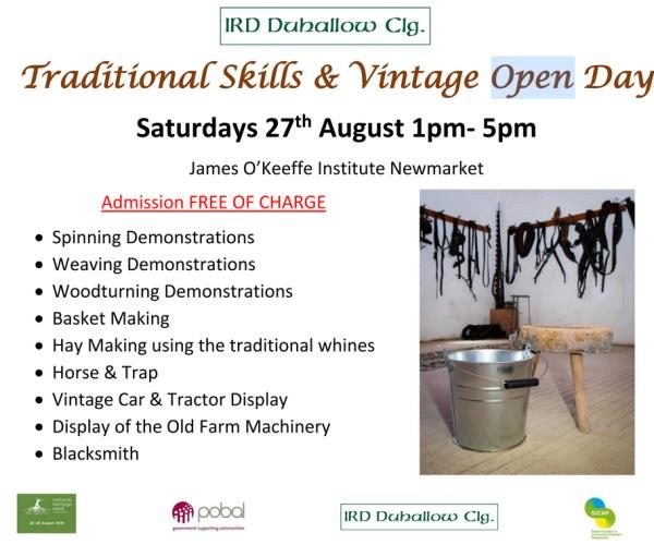 2016-08-27 Traditional Skills & Vintage Open Day IRD - poster
