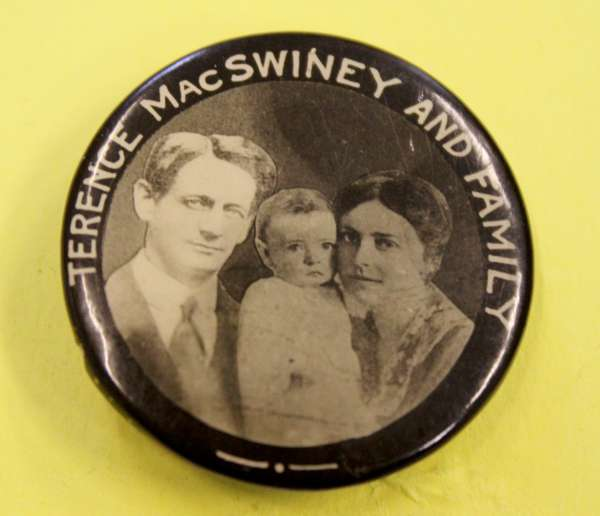 2Terence McSwiney Badge at Millstreet Museum -600