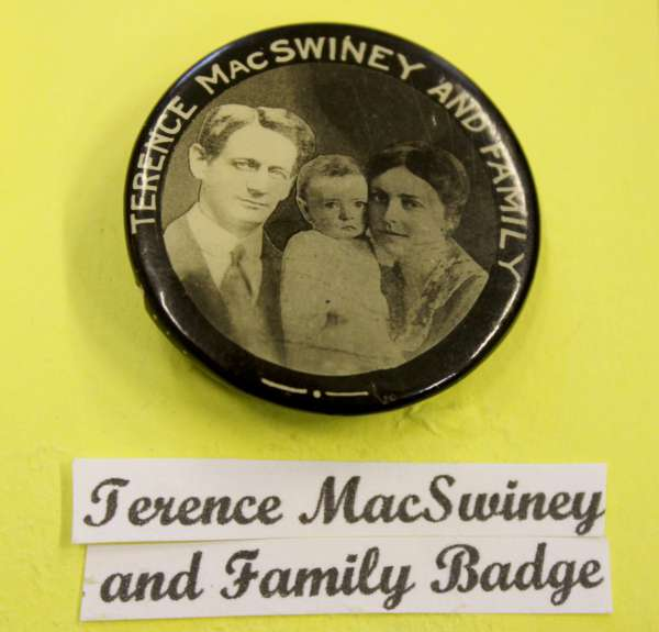 3Terence McSwiney Badge at Millstreet Museum -600