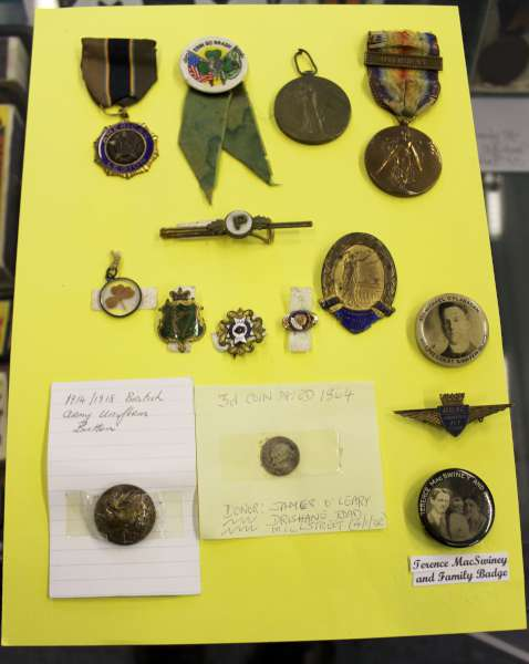 4Terence McSwiney Badge at Millstreet Museum -600