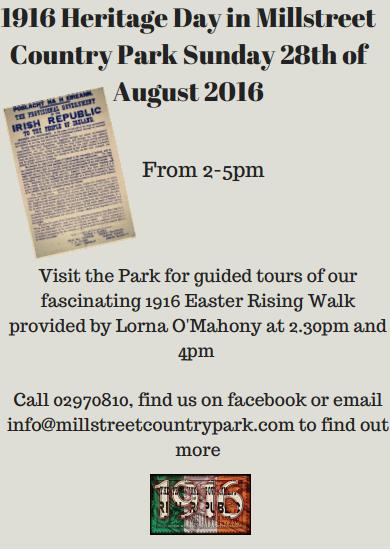 Heritage Day Millstreet Country Park 28th Aug(final)