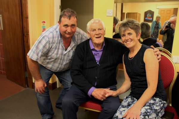 Finally we chat about Big Tom McBride's magnificent Concert/Dance at Killarney's INEC last Sat. night.  Here we include William & Ita Fitzgerald with the Living Legend whom I was also privileged to meet!