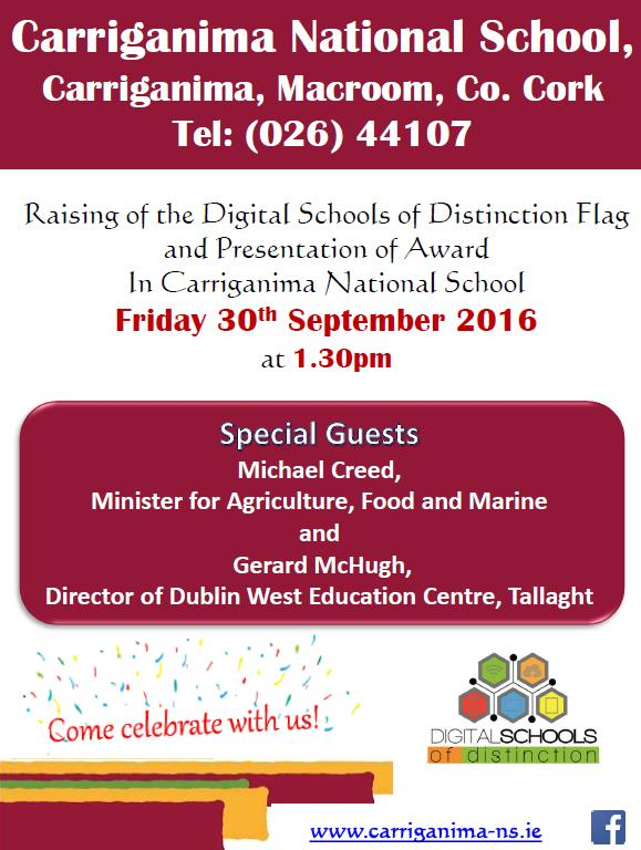 2016-09-30-carriganima-national-school-raising-of-the-digital-schools-of-distinction-flag-poster