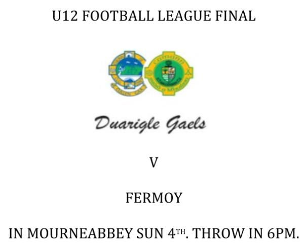 2016-10-04 U12 Football League Final - Duarigle Gaels v Fermoy