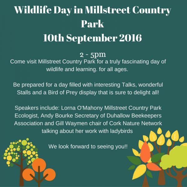 2016-10-10 Wildlife day at Millstreet Country Park - poster