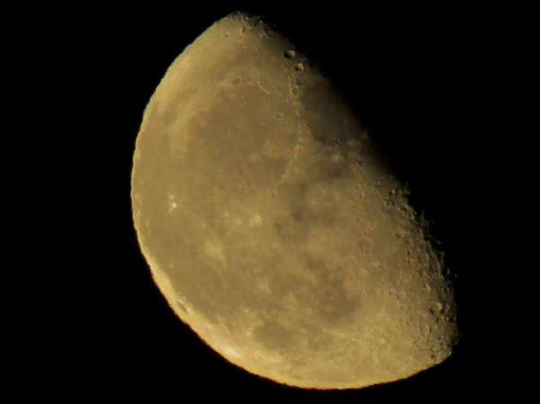 A view of the Sept. 21st Moon from Mount Leader, Clara Road, Millstreet.  Click on the images to enlarge.  (S.R.)