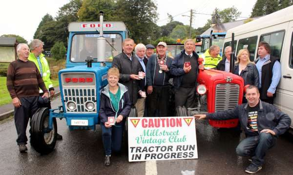 Among those present for the start of the very successful Tractor Run in Carriganima on Sunday, 18th Sept. 2016 in aid of C.A.R.T. Bus Service were Minister for Agriculture, Michael Creed; Cllr. Michael Creed and John O'Sullivan, Mayor of Ballinagree. The marvellous event in which 58 Tractors participated was coordinated by Ryan Tarrant and a supremely dedicated Team. Click on the images to enlarge. (S.R.)