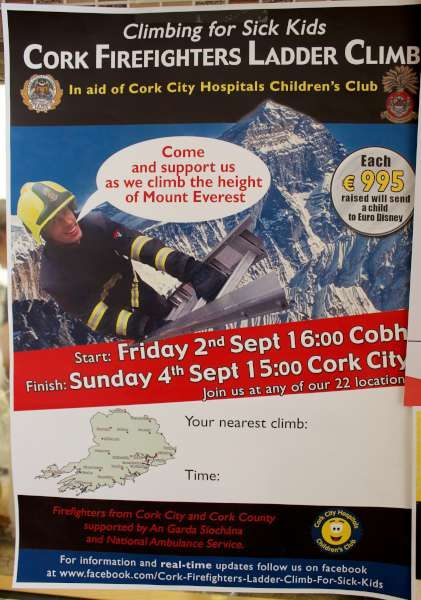 41Cork Firefighters Ladder Climb in Millstreet 2016 -600