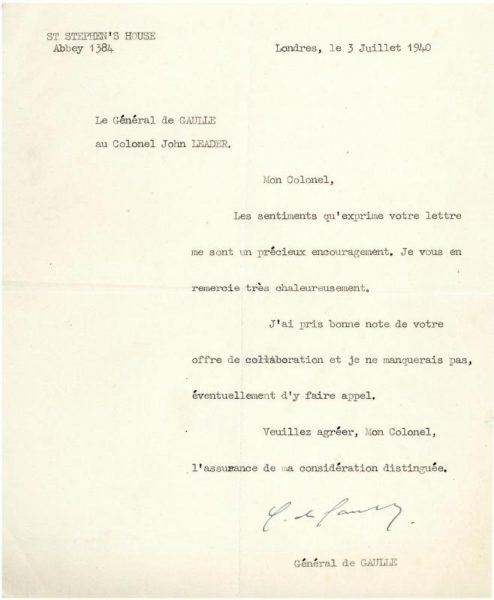 1940-letter-from-charles-de-gaulle-to-colonel-john-leader-800
