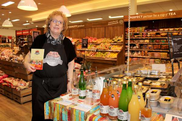 Iona Gilbert promoting the wonderful products of Ballyhoura Apple Farm.