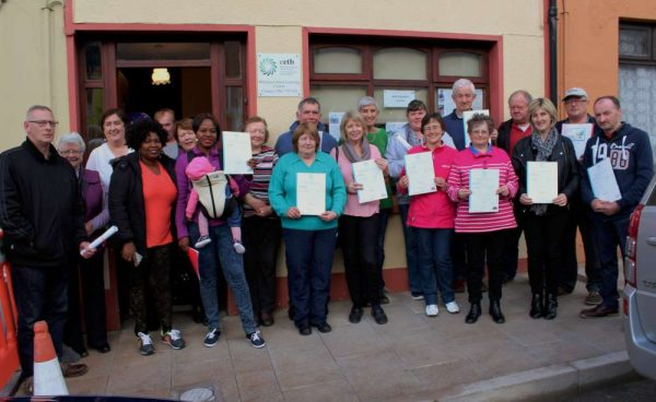 The official presentation of Certificates relating to a wide variety of Courses took place at the Centre in Main Street, Millstreet on Monday, 14th Nov. 2016. We thank Coordinator Marie Twomey for alertin us to the important occasion. Click on the images to enlarge. (S.R.)