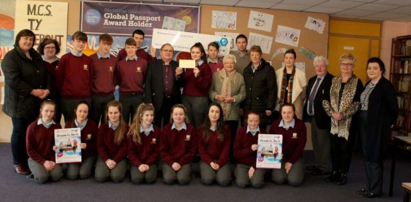 As has been done annually Millstreet Community Council financially supports the MCS Students who will be participating in January 2017 in Dublin in the Young Scientist Exhibition. This year a most impressive five different groups will be taking part with some quite fascinating projects. The significant cheque was presented by Chairman Noel Buckley at the School on Wednesday, 23rd Nov. 2016. Click on the images to enlarge. (S.R.)