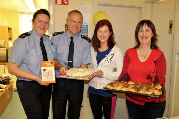 Coordinator Sgt. Paul Lynch and his dedicated Team organised a truly splendid Coffee Morning and Afternoon on Monday, 14th Nov. 2016 in the welcoming setting of Millstreet Garda Station. There was a constant flow of people arriving to participate and to donate to such a worthy Hospice cause. Well done to All on such a very successful and inspiring (now annual) event. Click on the images to enlarge. (S.R.)