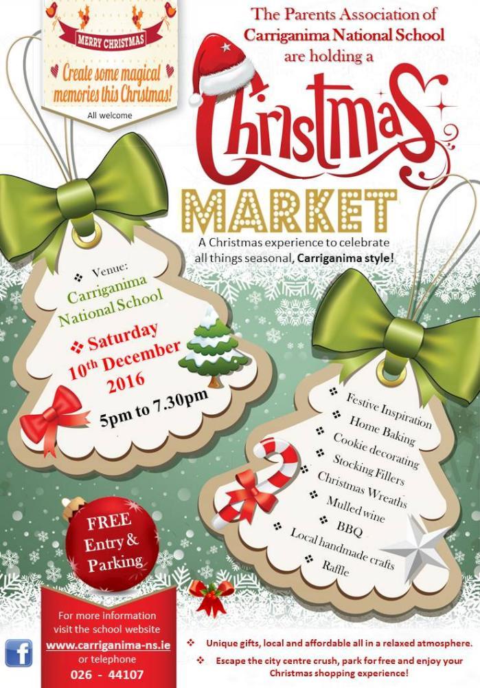 Carriganima Ns Christmas Market Poster