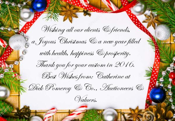 Christmas And New Year Wishes.Christmas And New Year Wishes From Dick Pomeroy Co