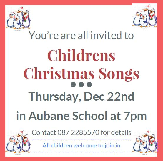 2016-12-childrens-christmas-songs-in-aubane-poster