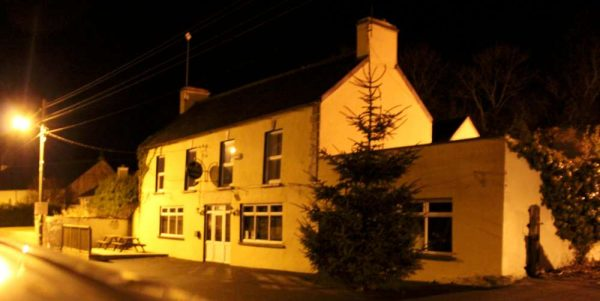 """The Pub"" in Carriganima before the installation of Christmas Lights."