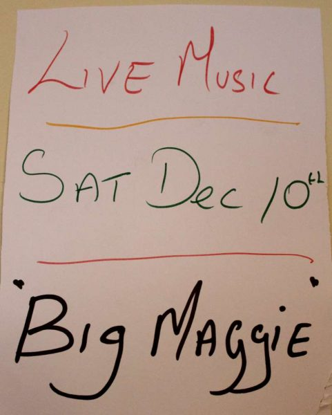 "Musical Occasion at ""The Pub"" in Carriganima on Sat. 10th Dec. 2016. Click on the image to enlarge. (S.R.)"