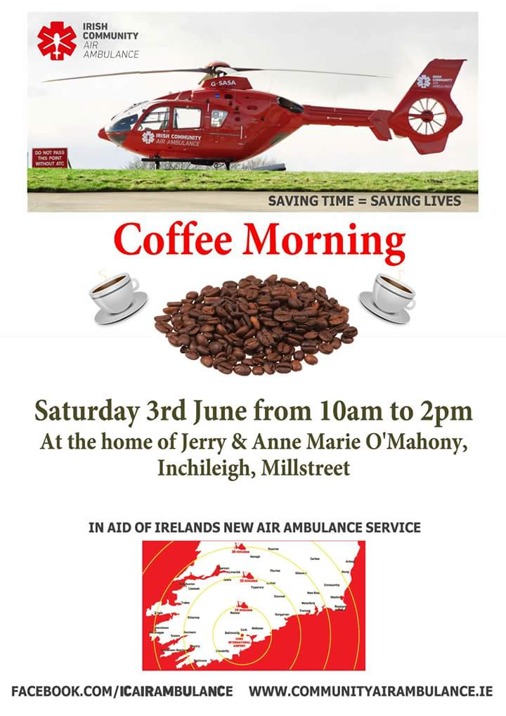 2017-06-03 Coffee Morning for new Air Ambulance - poster