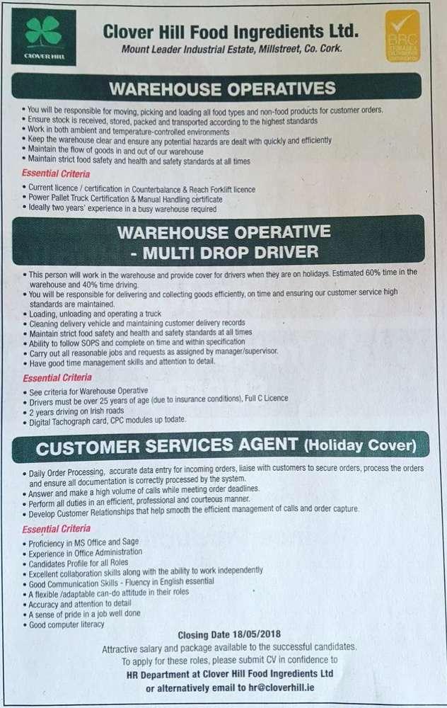 Employment & Jobs – Millstreet.ie