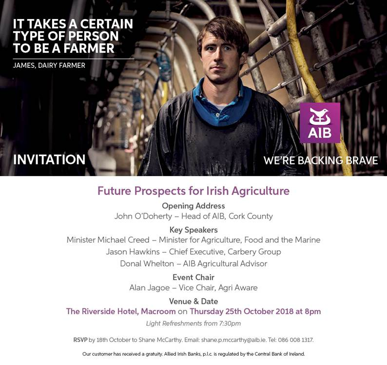 Future Prospects for Irish Agriculture – Millstreet ie
