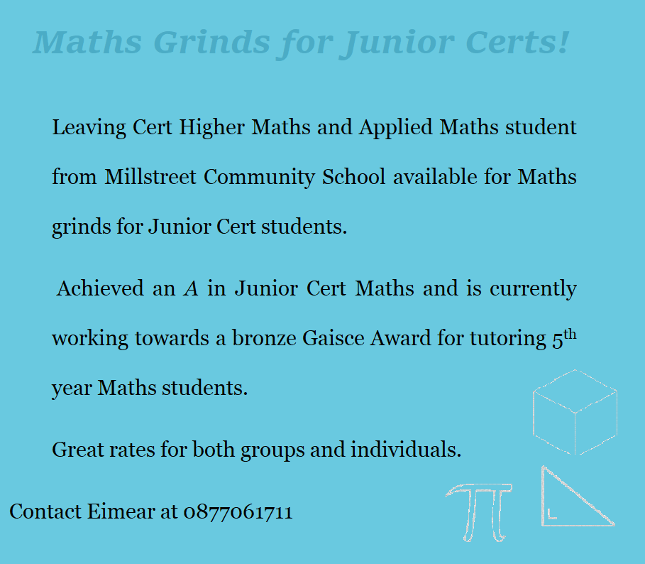 Grinds / Tuition – Millstreet ie
