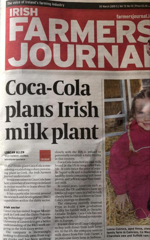 Milk Processing Plant being considered for Kilcorney
