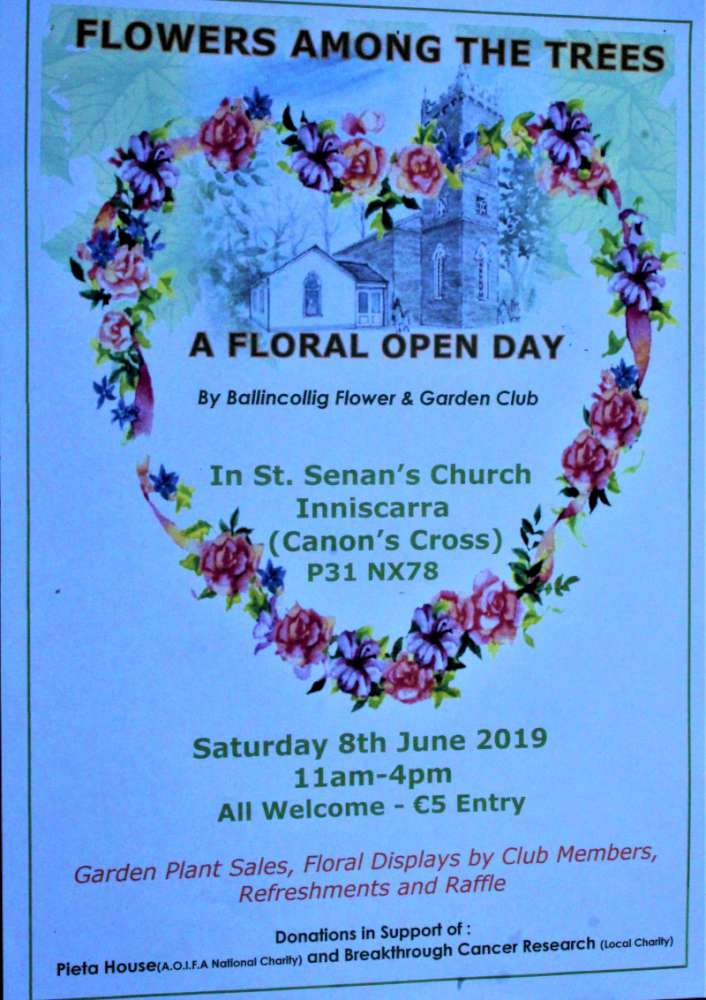 Floral Open Day at Inniscarra on Sat  8th June 2019 in aid